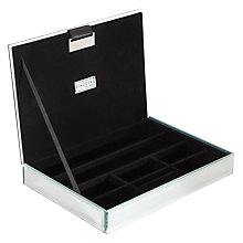 Buy Stackers Glass Glitter Lidded Jewellery Box Online at johnlewis.com