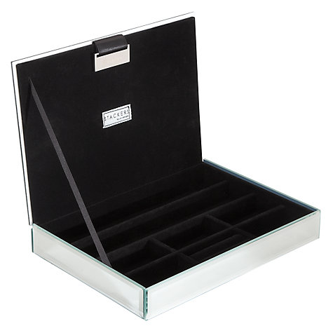 Buy stackers glass glitter lidded jewellery box john lewis for Stackers jewelry box canada