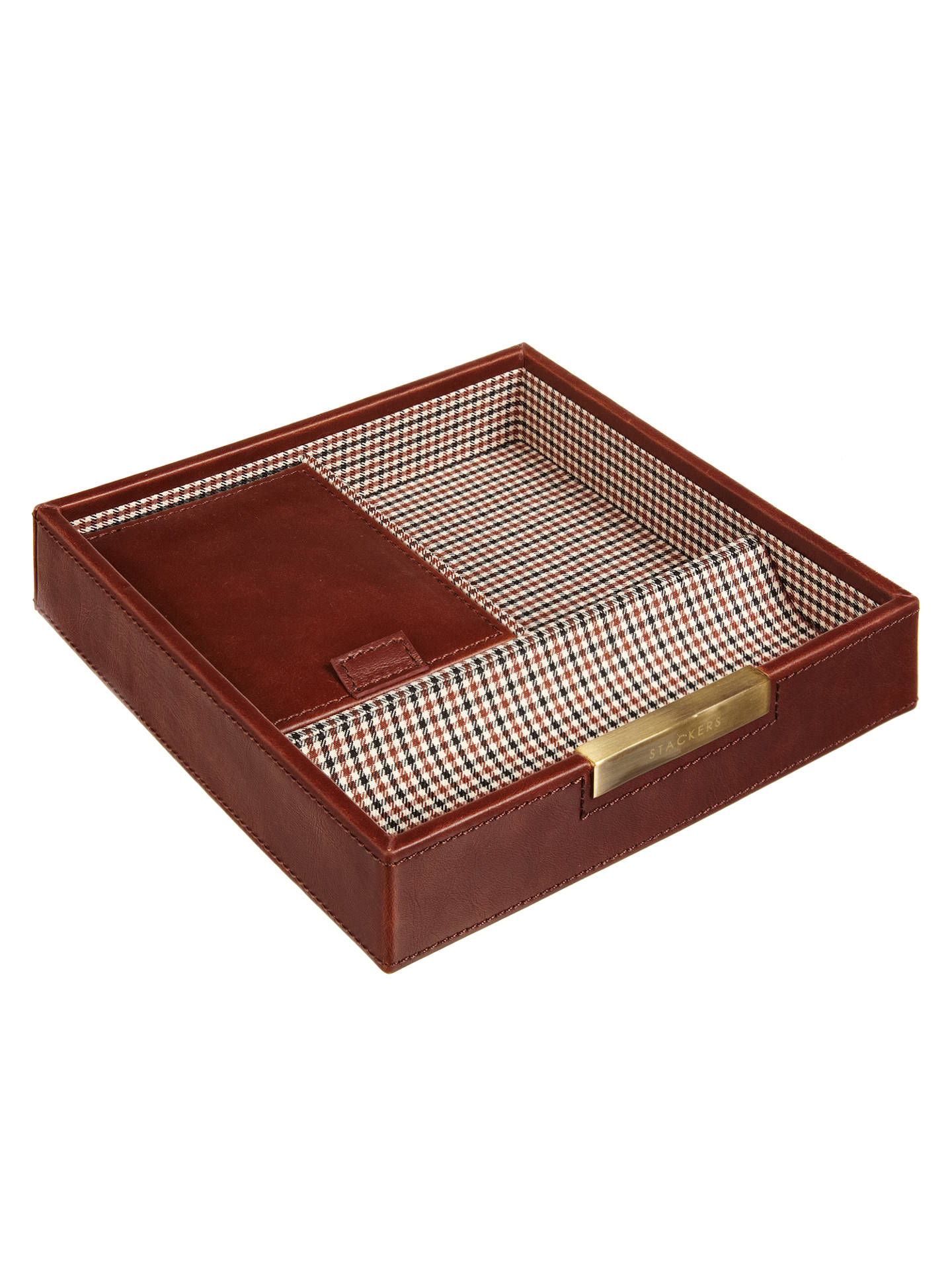 Buy Stackers Accessory Box Lid, Check Lining Online at johnlewis.com