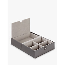 Buy LC Designs Travel Jewellery Box Tray, Mink/ Grey Velvet Online at johnlewis.com