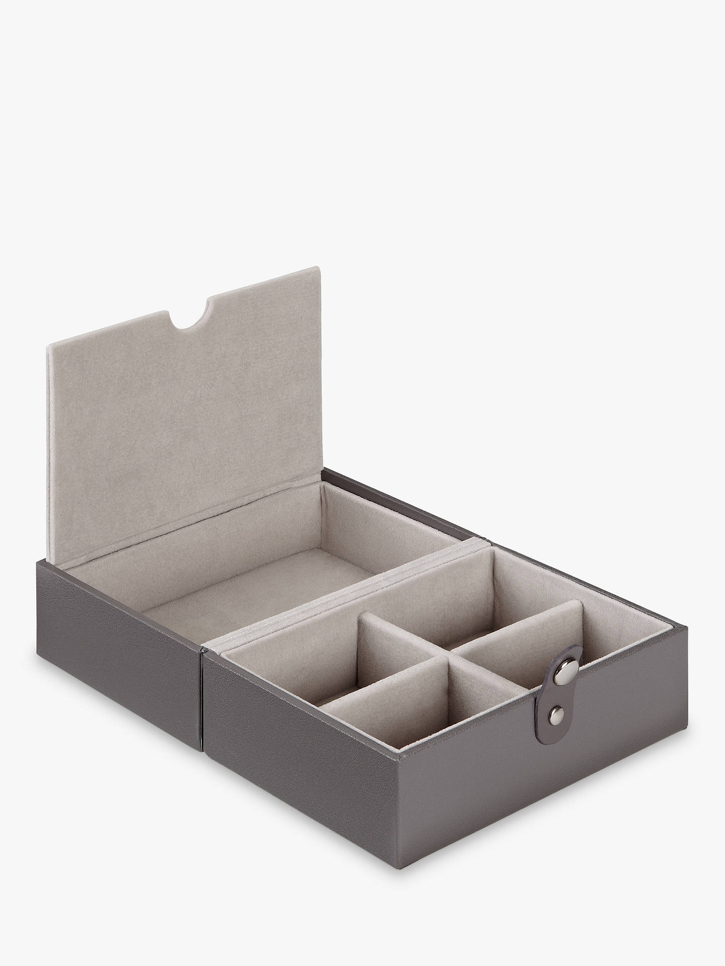 Lc Designs Travel Jewellery Box Tray Mink Grey Velvet