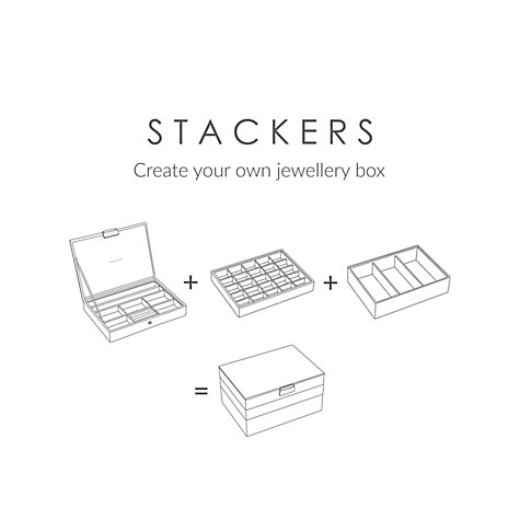 Buy Stackers Jewellery 25-section Tray, Mink Online at johnlewis.com