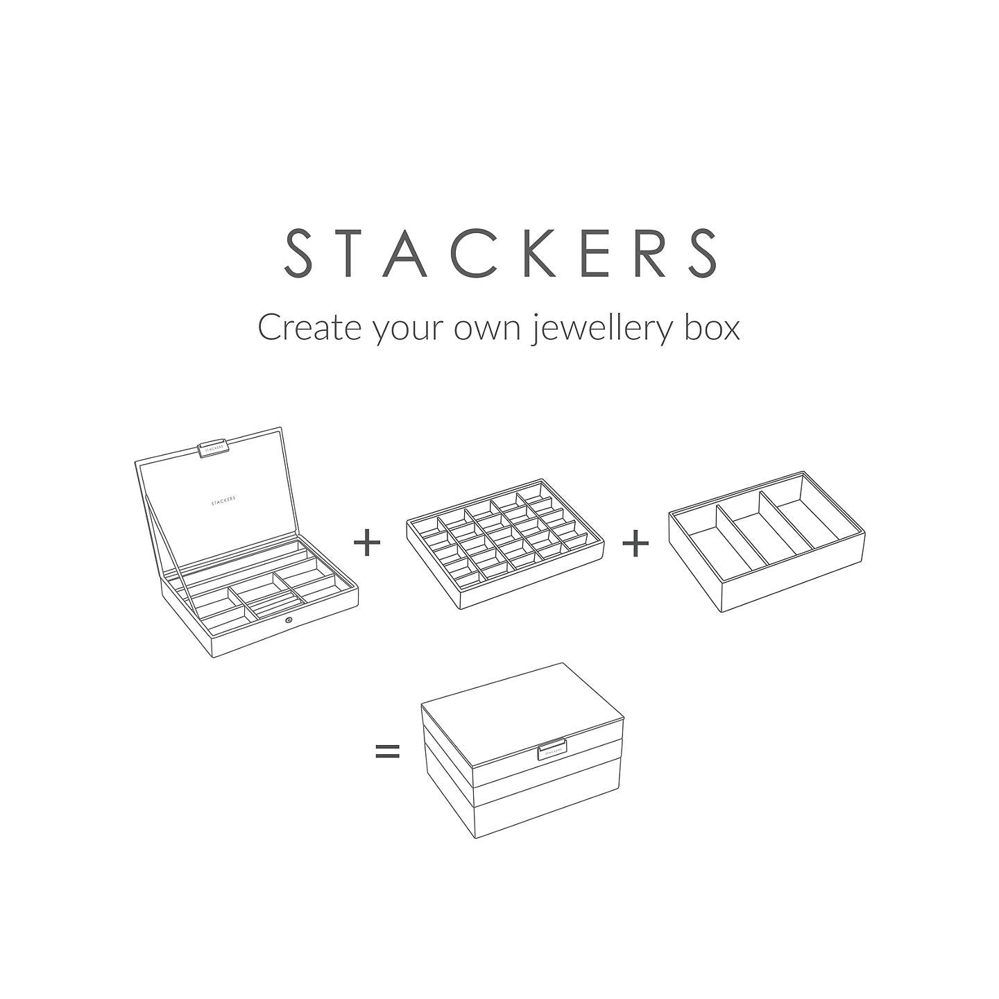 BuyStackers Jewellery 25-section Tray, Mink Online at johnlewis.com
