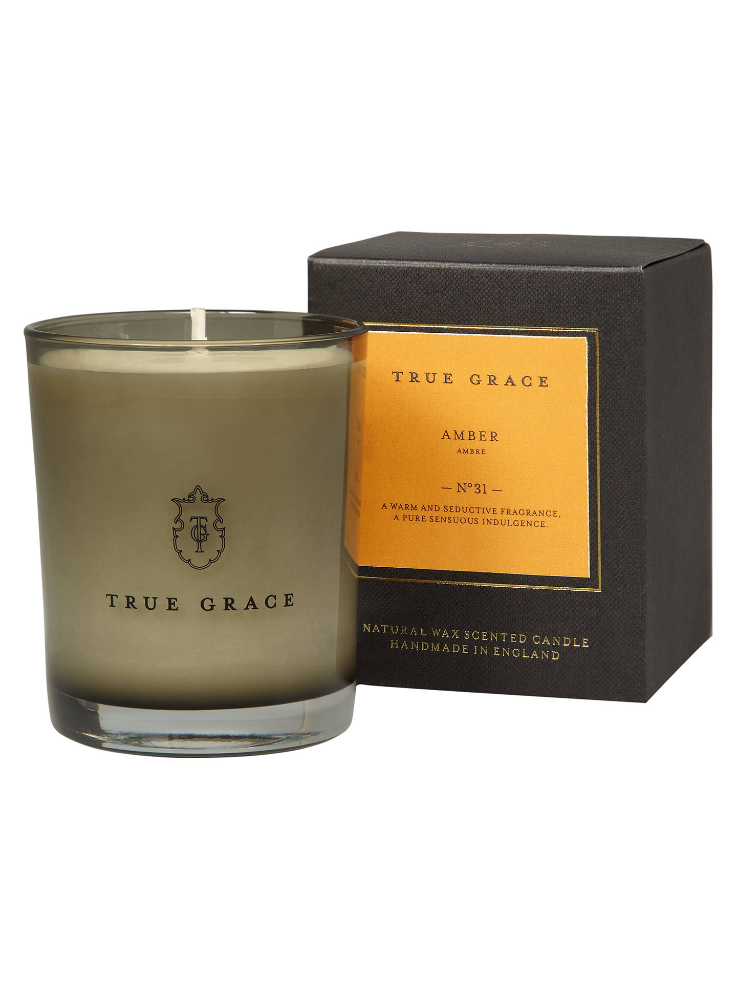 Buy True Grace Manor Amber Scented Candle Online at johnlewis.com