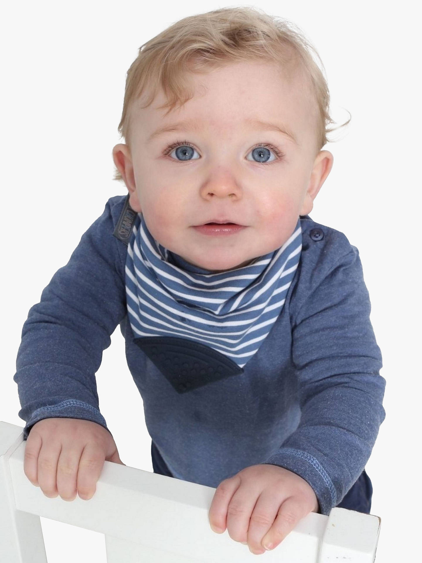 Buy Cheeky Chompers Baby Neckerchew, Blue Online at johnlewis.com