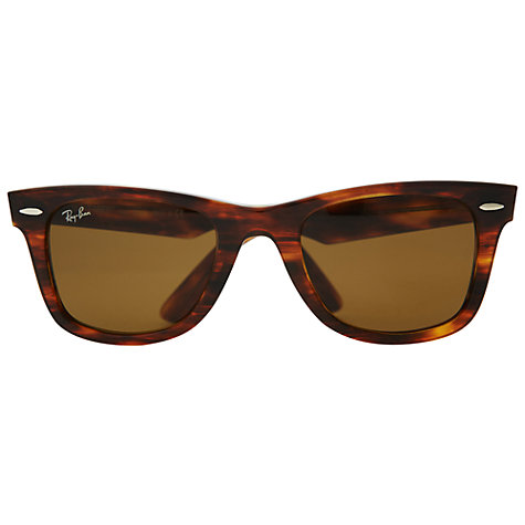 ray ban clubmaster polarized tortoise  Buy Ray-Ban RB2140 New Wayfarer Sunglasses, Tortoise