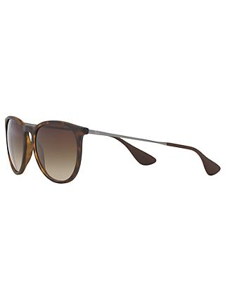 Ray-Ban RB4171 Women's Erica Sunglasses, Havana/Brown Gradient