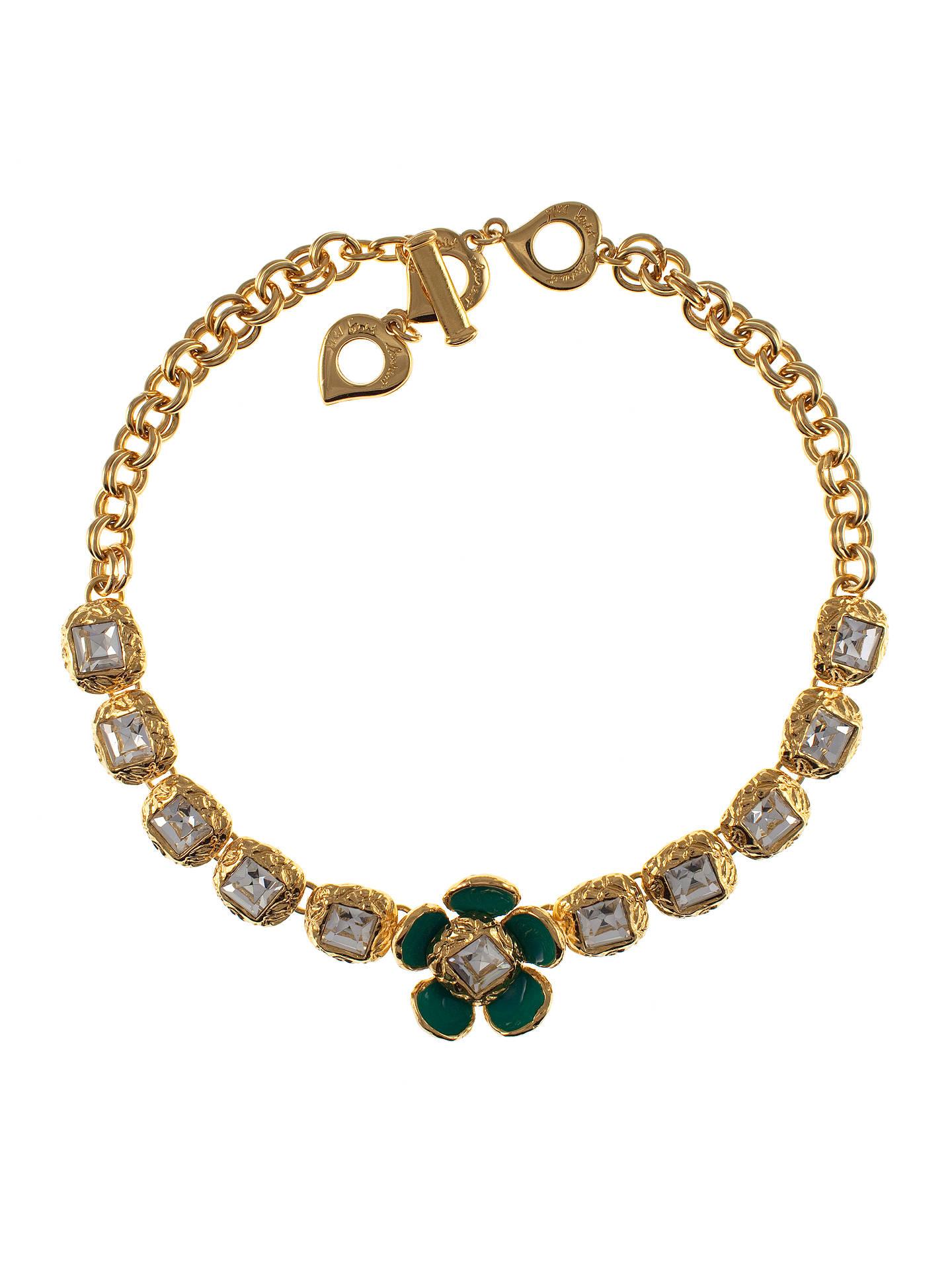 373872572e Eclectica Vintage 1950s Yves Saint Laurent Enamel Flower Necklace ...
