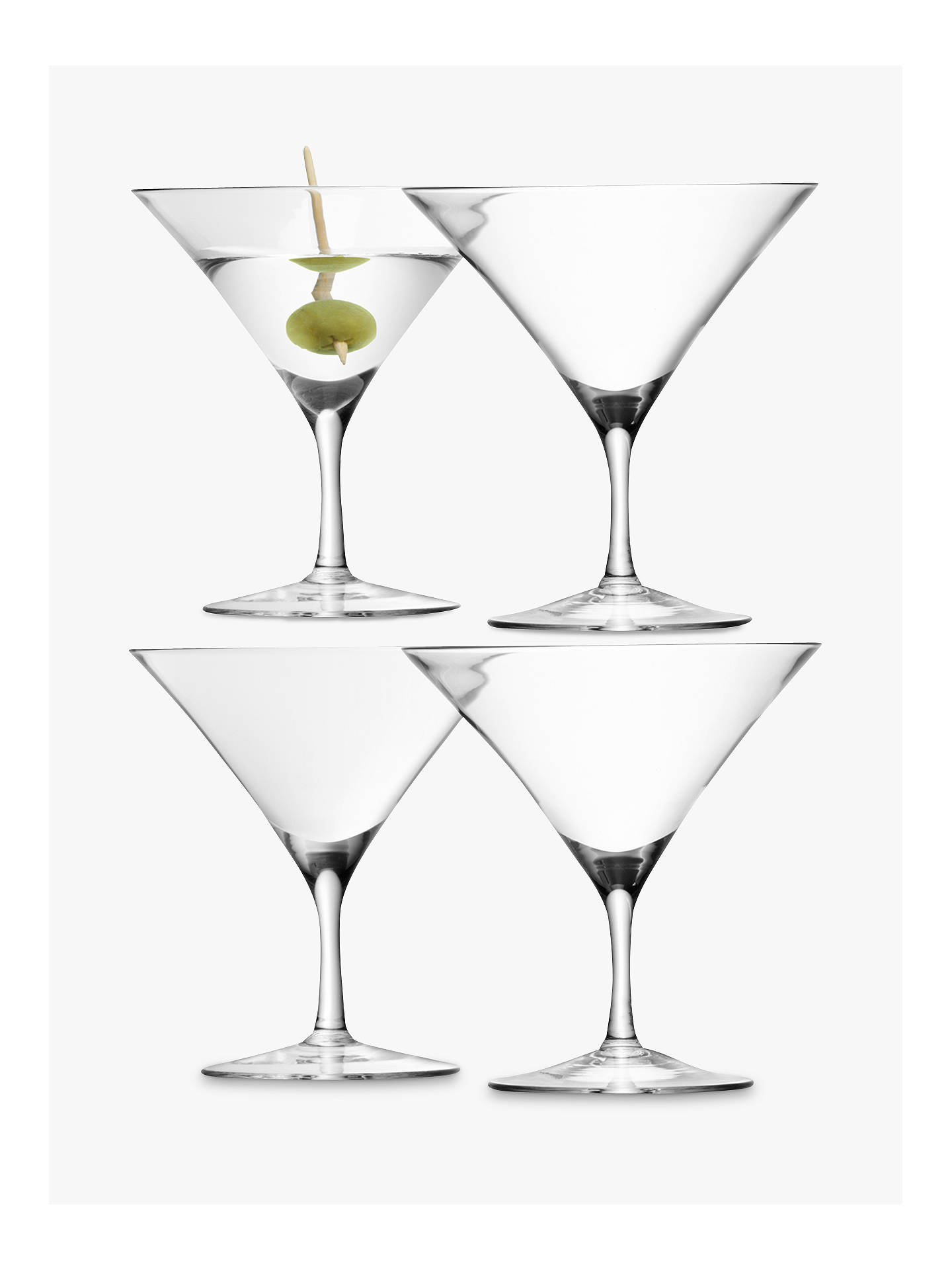 Buy LSA International Bar Collection Martini Glasses, Set of 4, 180ml, Clear Online at johnlewis.com