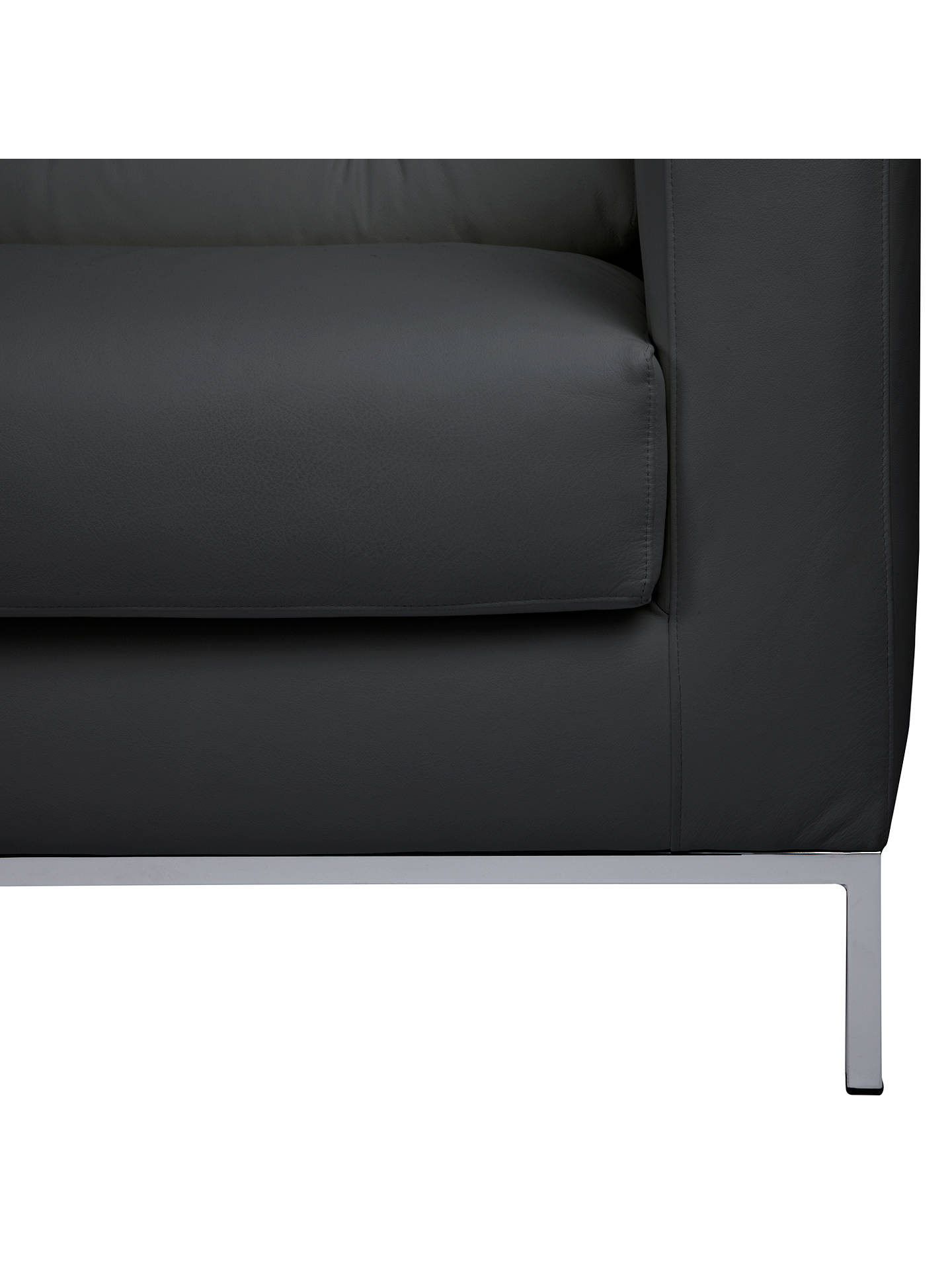 Buy John Lewis Odyssey Large Leather Sofa, Arredo Black Online at johnlewis.com
