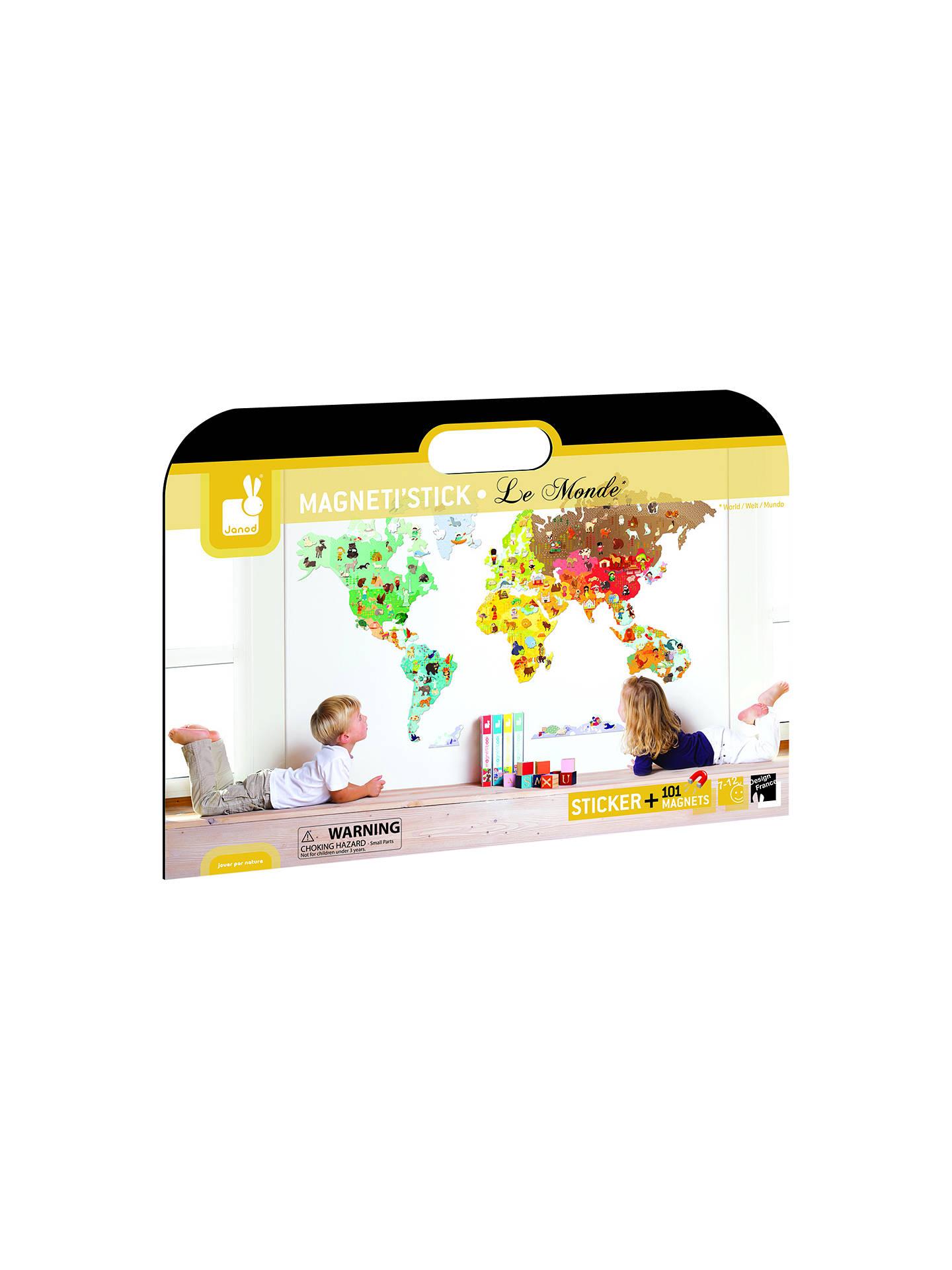 Janod World Map.Janod Magneti Stick World Map Wall Sticker At John Lewis Partners