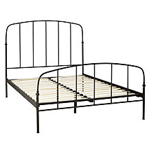 Buy John Lewis Resto Bed Frame, Matt Black, Double Online at johnlewis.com