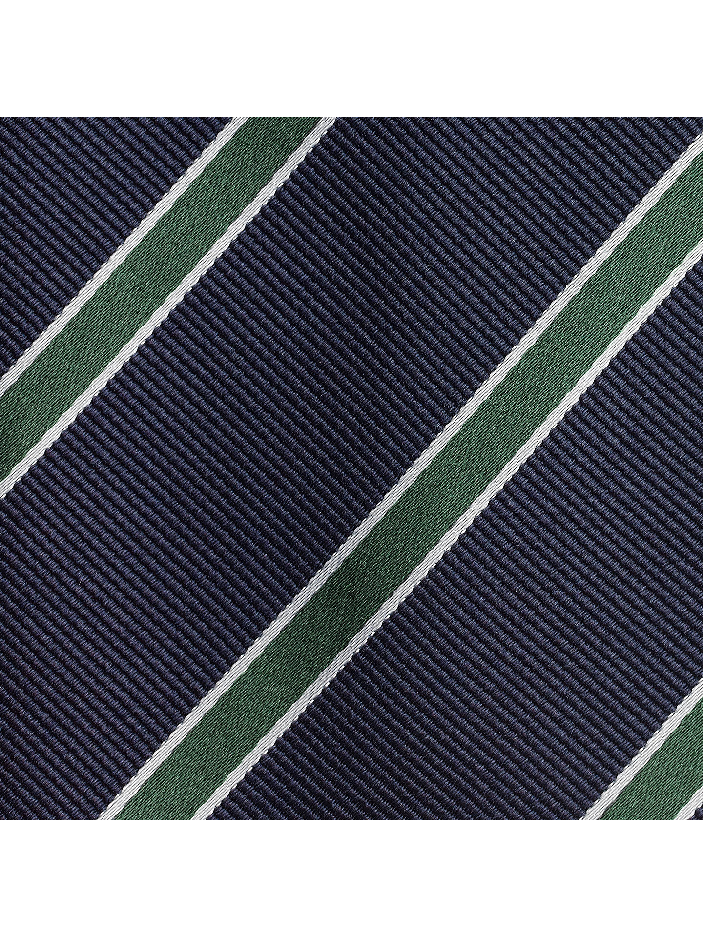 Buy John Lewis Regimental Stripe Tie, Navy/Green Online at johnlewis.com