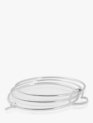 Joma Jewellery Lola Silver Heart Outline Triple Bangle