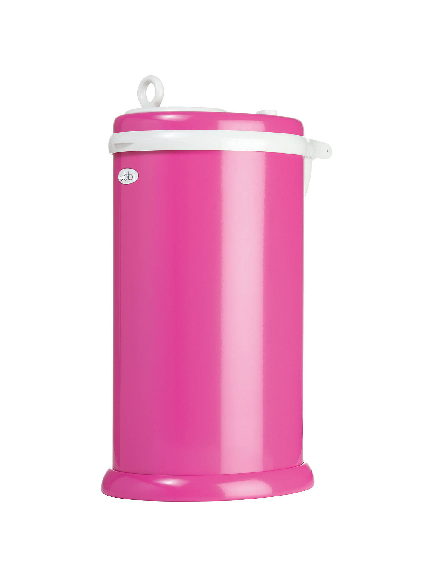 Buy Ubbi Nappy Bin, Hot Pink Online at johnlewis.com