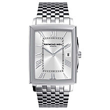 Buy Raymond Weil 5456-ST-00658 Men's Stainless Steel Bracelet Watch, Silver Online at johnlewis.com