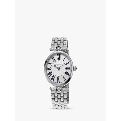 Frédérique Constant FC-200MPW2V6B Women's Classic Art Deco Oval Bracelet Strap Watch, Silver