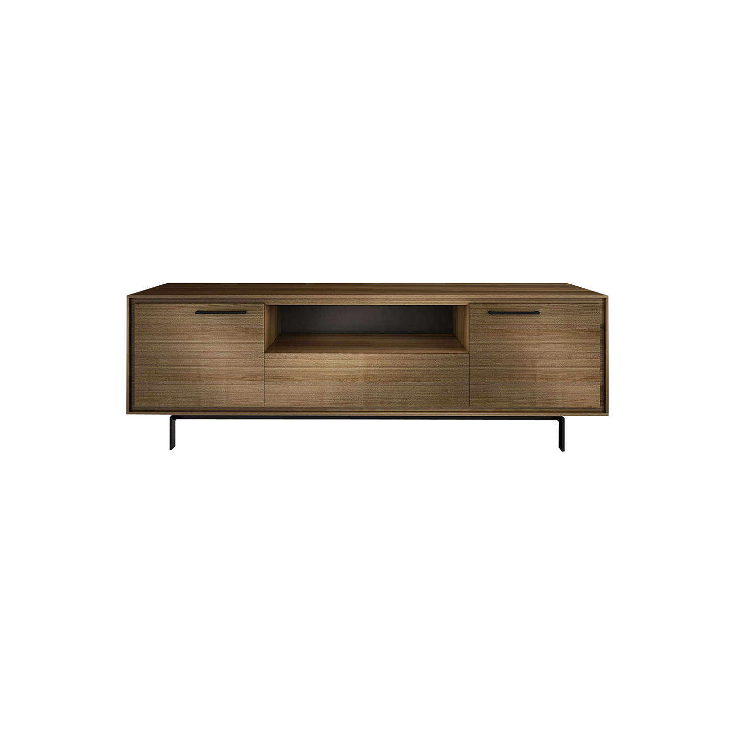 "BuyBDI Signal 8329 TV Stand for TVs up to 85"", Natural Walnut Online at johnlewis.com"