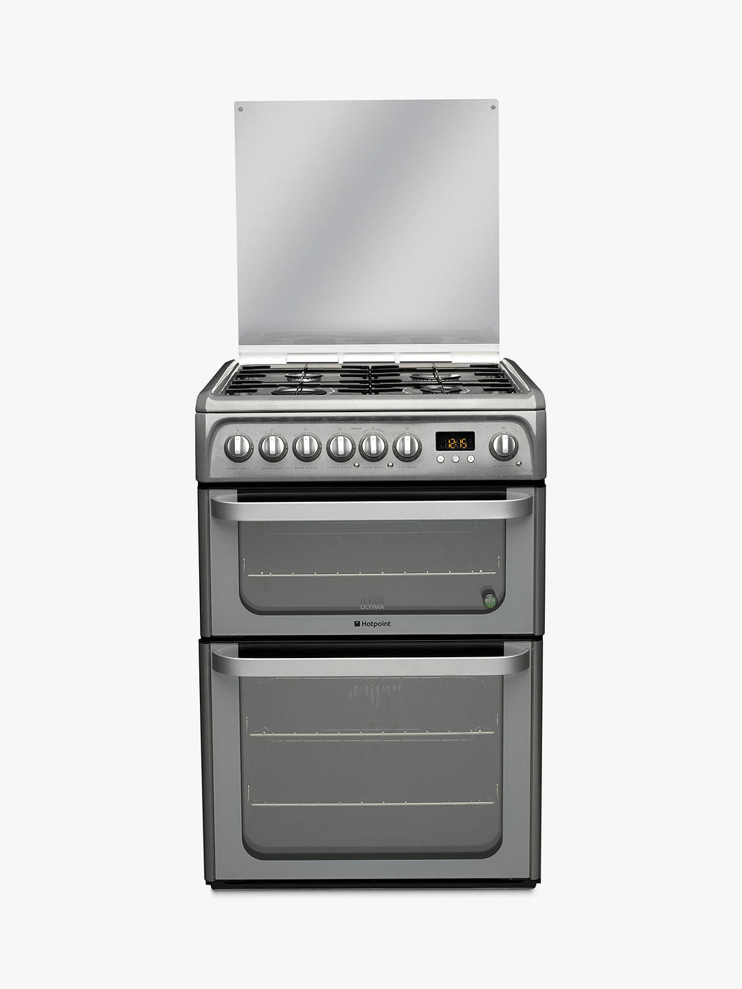 Buy Hotpoint HUD61GS Dual Fuel Cooker, Graphite Online at johnlewis.com