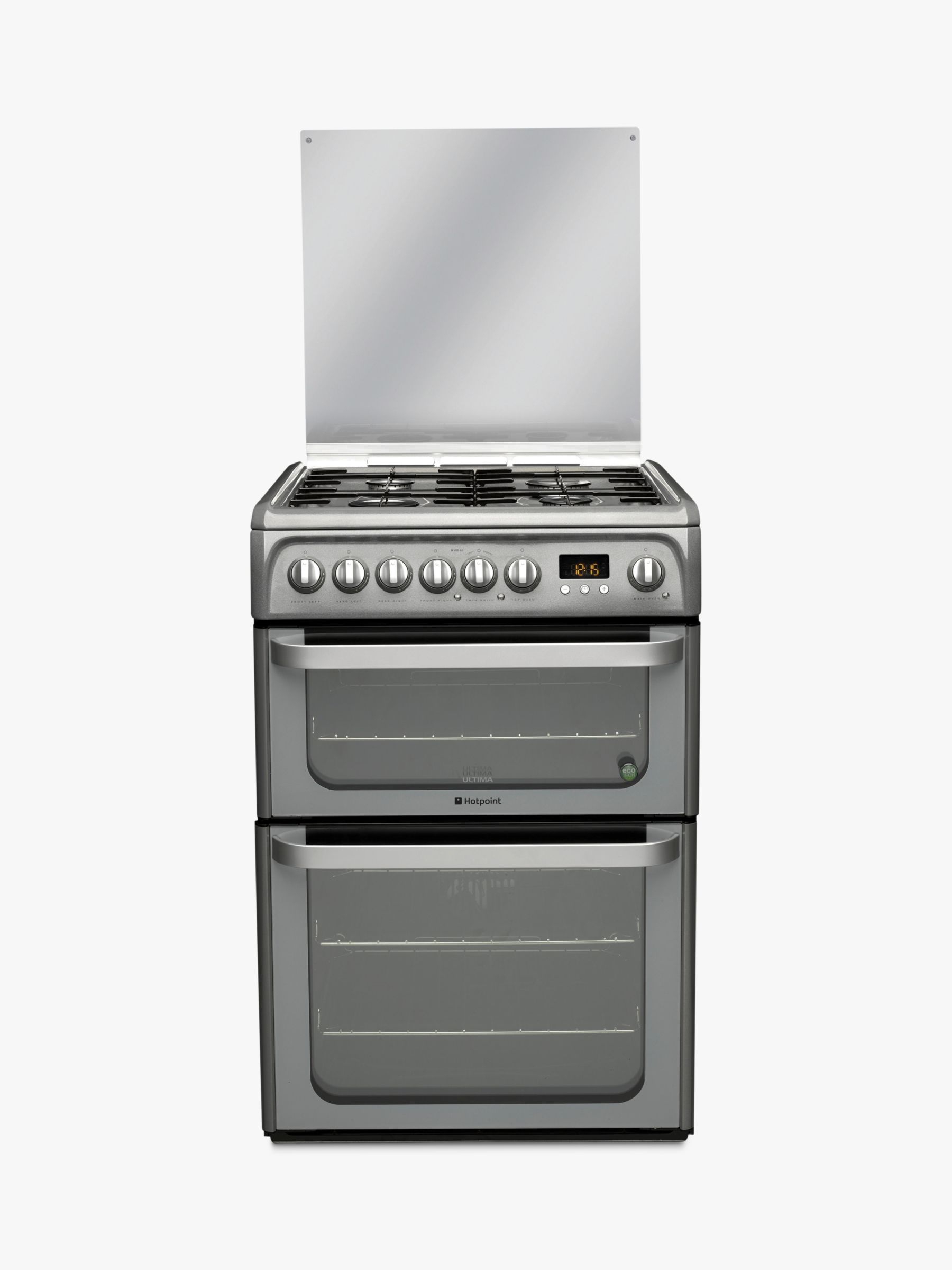 Hotpoint Hotpoint HUD61GS Dual Fuel Cooker, Graphite