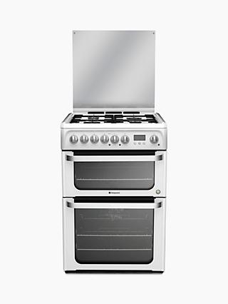 Hotpoint HUD61PS Dual Fuel Cooker, White
