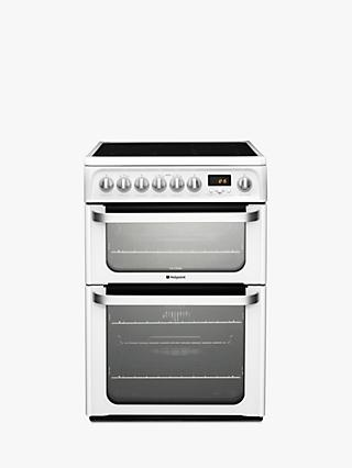 Hotpoint HUE62PS Electric Cooker, White