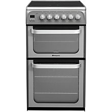 Buy Hotpoint HUE52GS Electric Cooker, Graphite Online at johnlewis.com