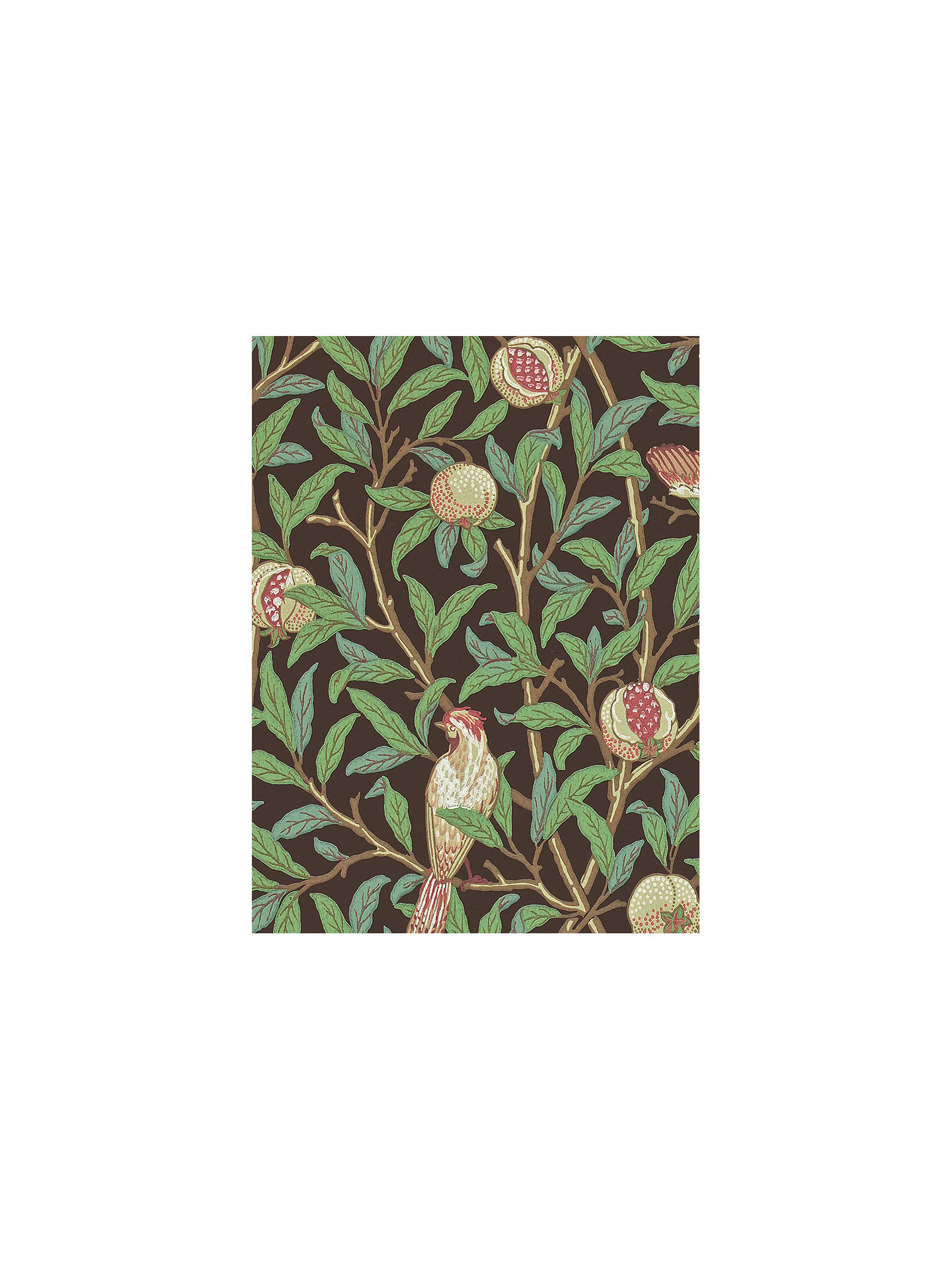 Buy Morris & Co. Bird and Pomegranate Wallpaper, 212537 Online at johnlewis.com
