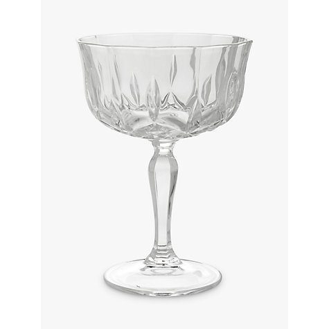 buy john lewis paloma crystal glass cocktail coupe online at - Crystal Champagne Flutes