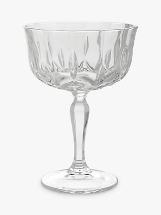 John Lewis & Partners Paloma Opera Cut Crystal Glass Cocktail Coupe, 220ml, Clear