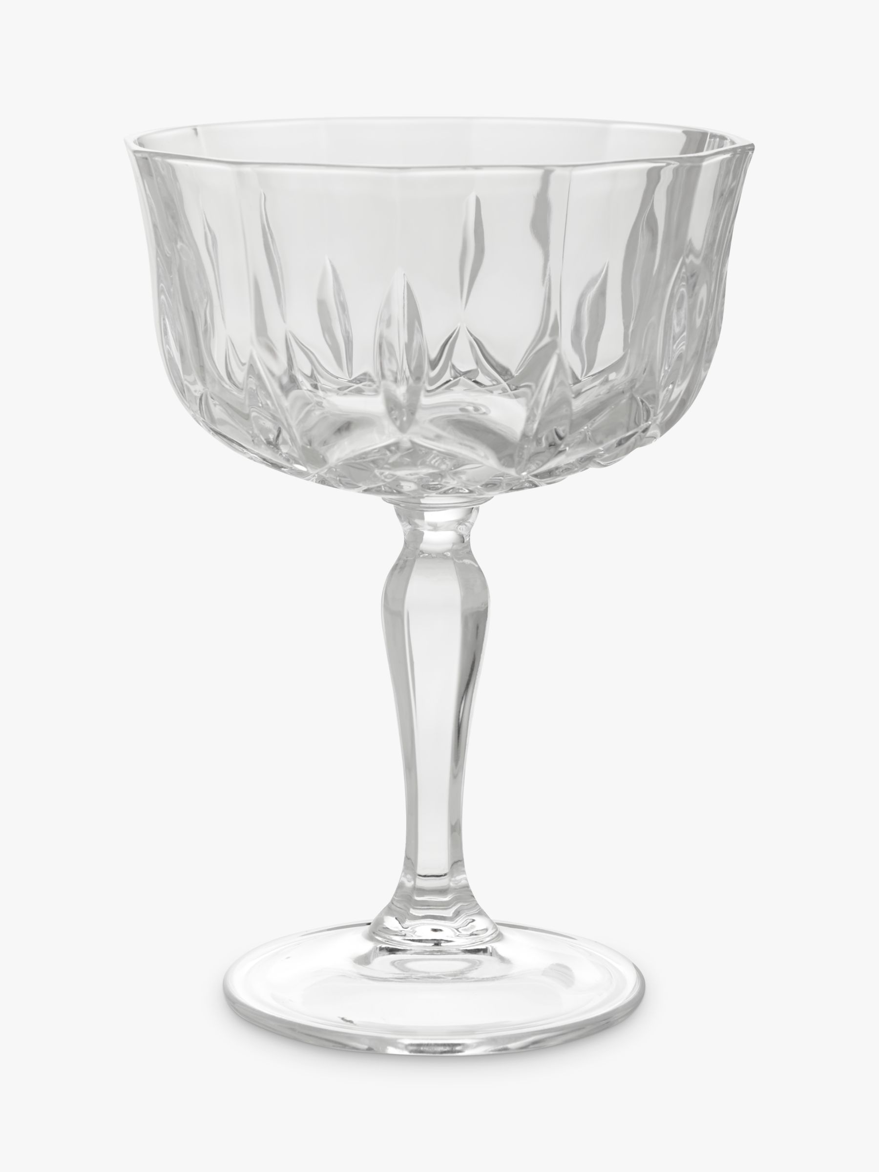 John Lewis Partners Paloma Opera Cut Crystal Glass Cocktail Coupe 220ml Clear At John Lewis Partners