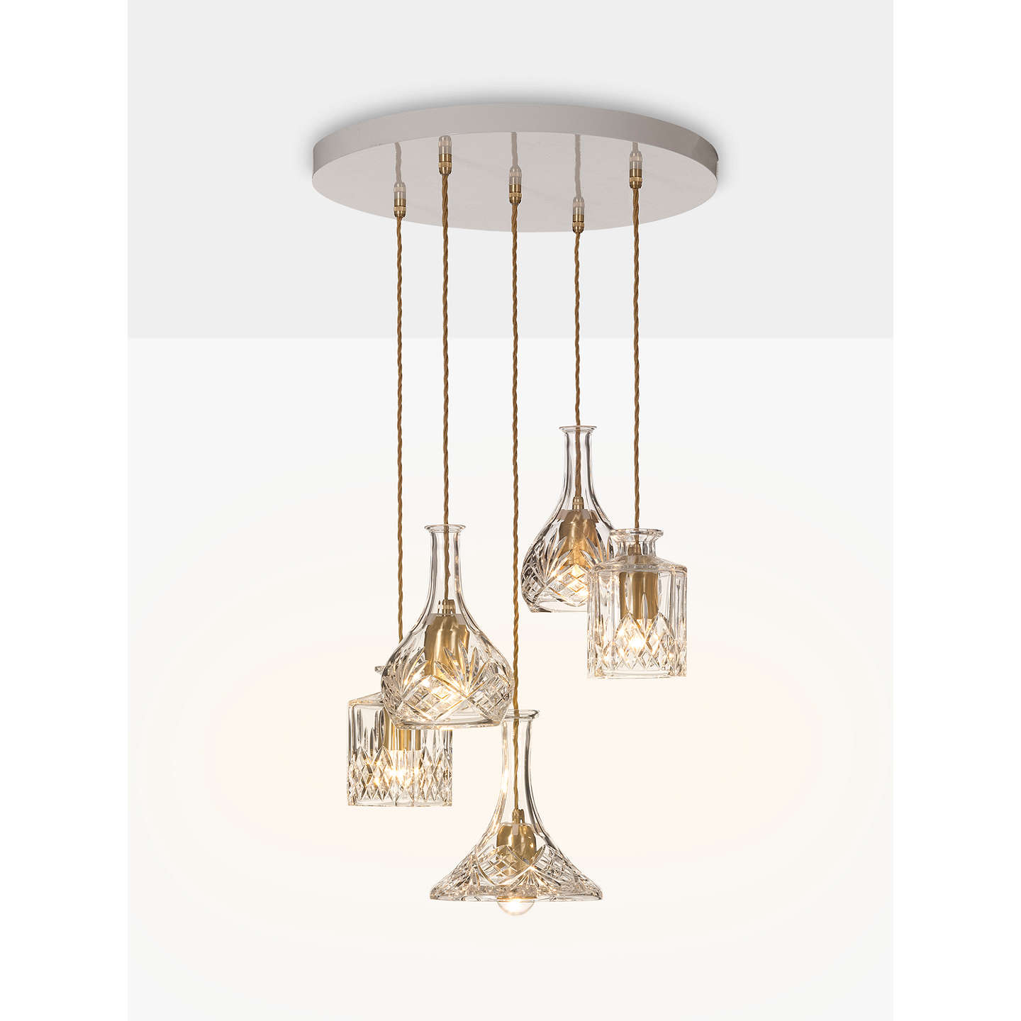 Lee broom decanter chandelier at john lewis buylee broom decanter chandelier online at johnlewis aloadofball Image collections