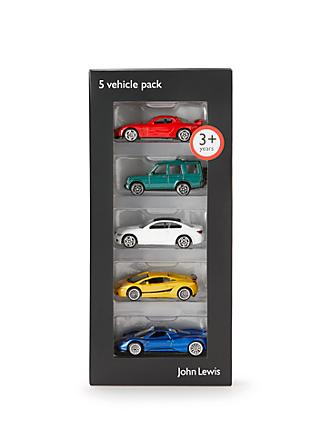 John Lewis & Partners Vehicles, Pack of 5