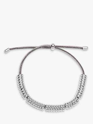 Estella Bartlett Suede Friendship Bracelet, Grey