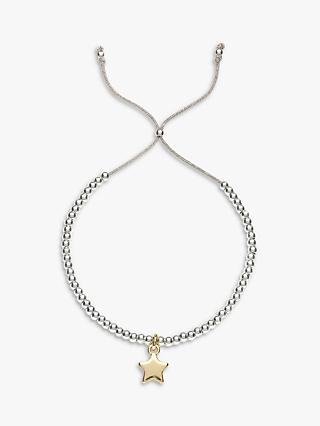 Estella Bartlett Liberty Beaded Star Bracelet, Silver/Gold