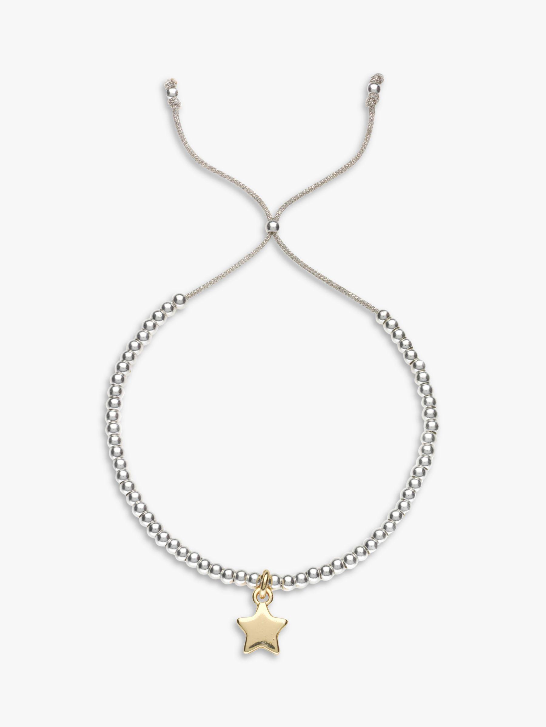 Estella Bartlett Estella Bartlett Liberty Beaded Star Bracelet, Silver/Gold