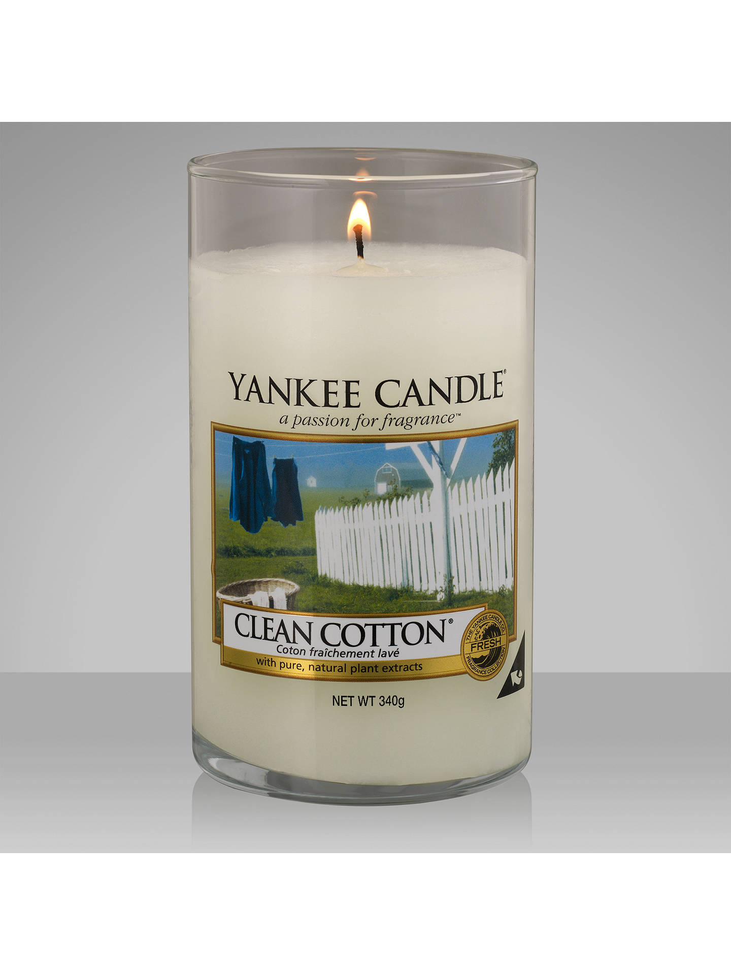 Yankee Candle Clean Cotton Scented Medium At John