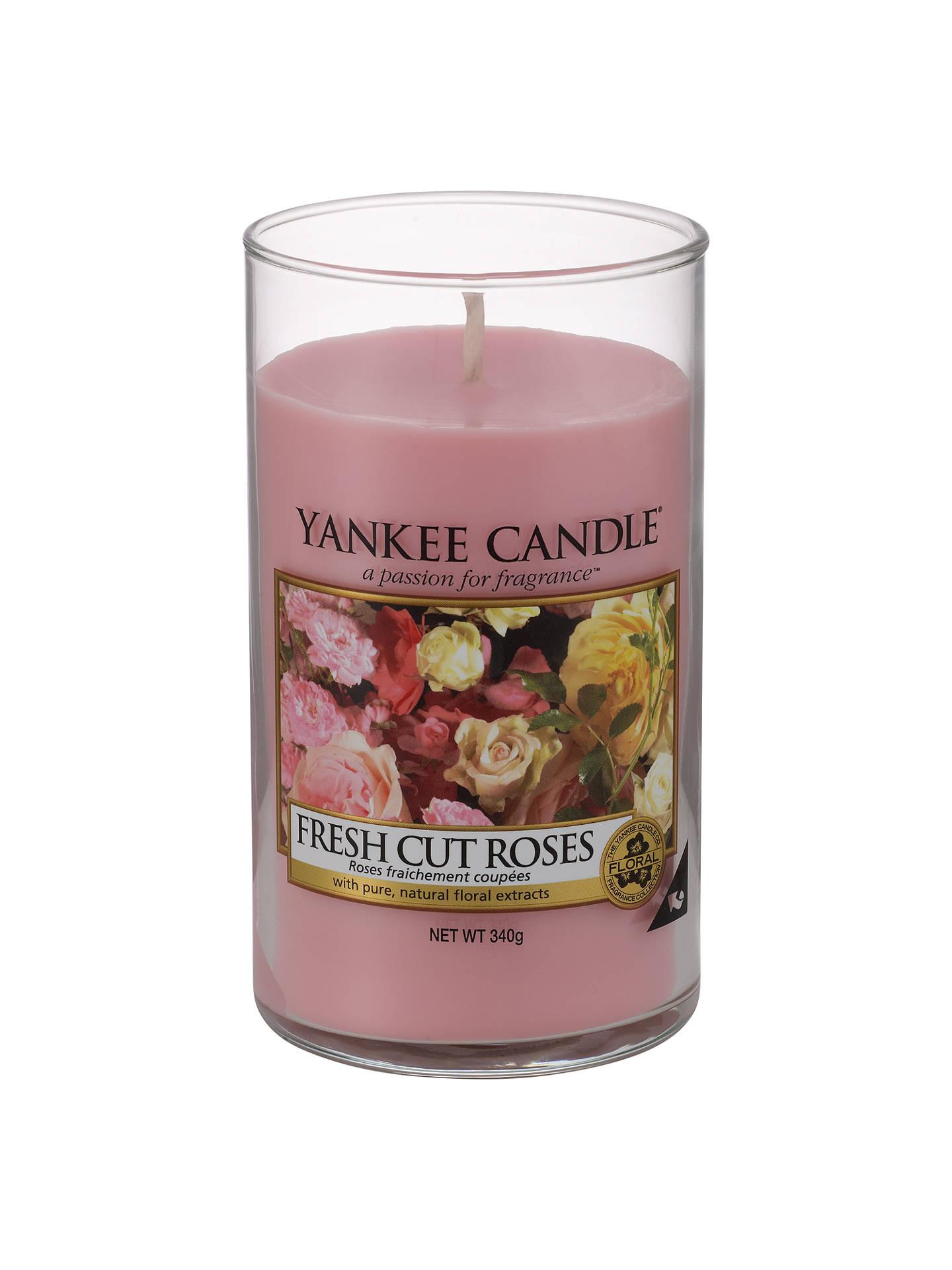 Yankee Candle Fresh Roses Scented Medium At John