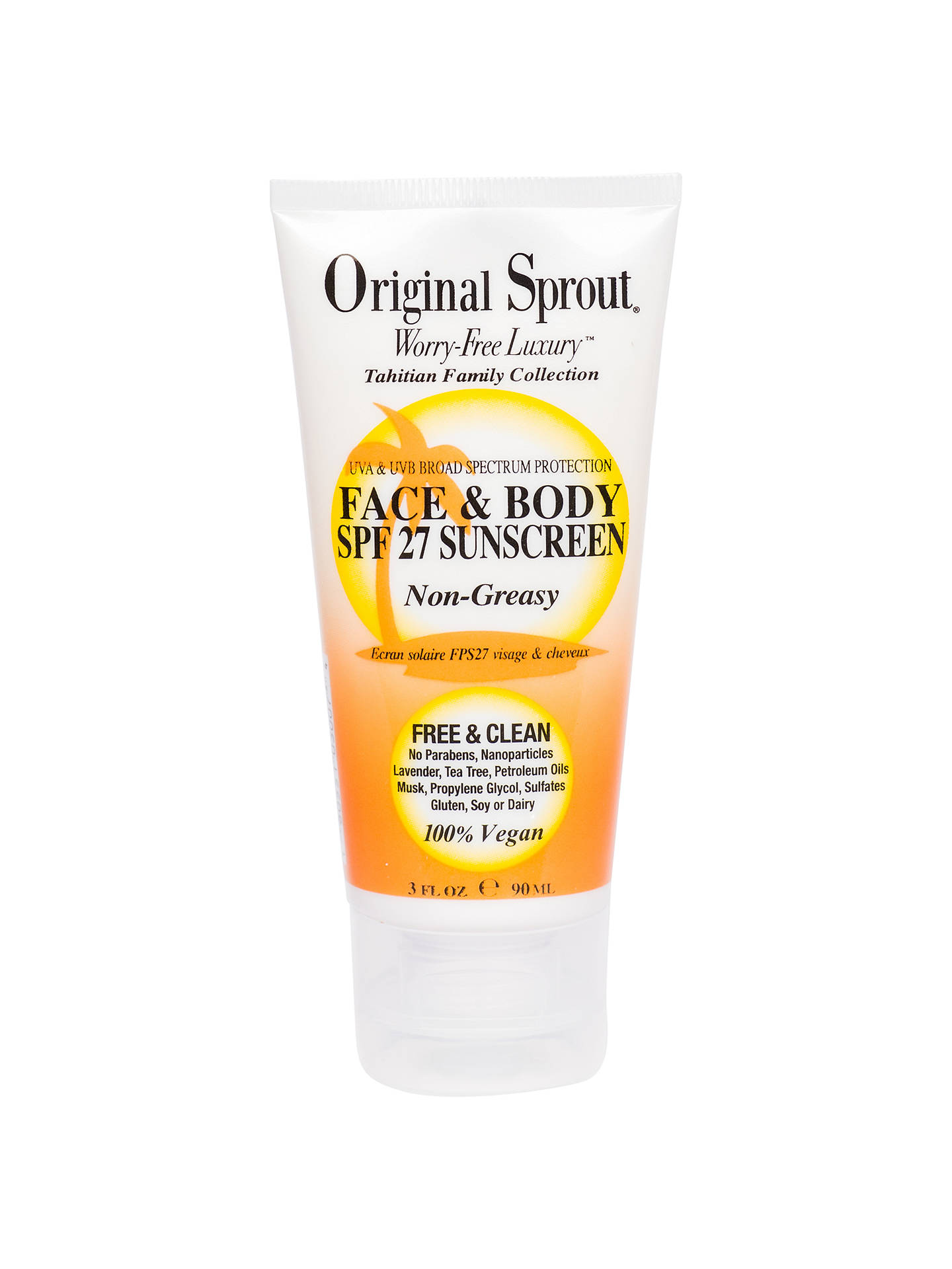BuyOriginal Sprout Face and Body SPF 27 Sunscreen, 90ml Online at johnlewis.com