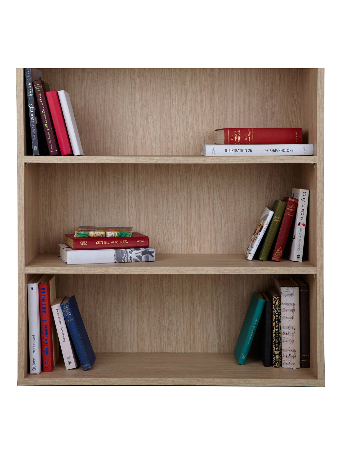 Buy John Lewis The Basics Dexter Low, Wide Bookcase Online at johnlewis.com