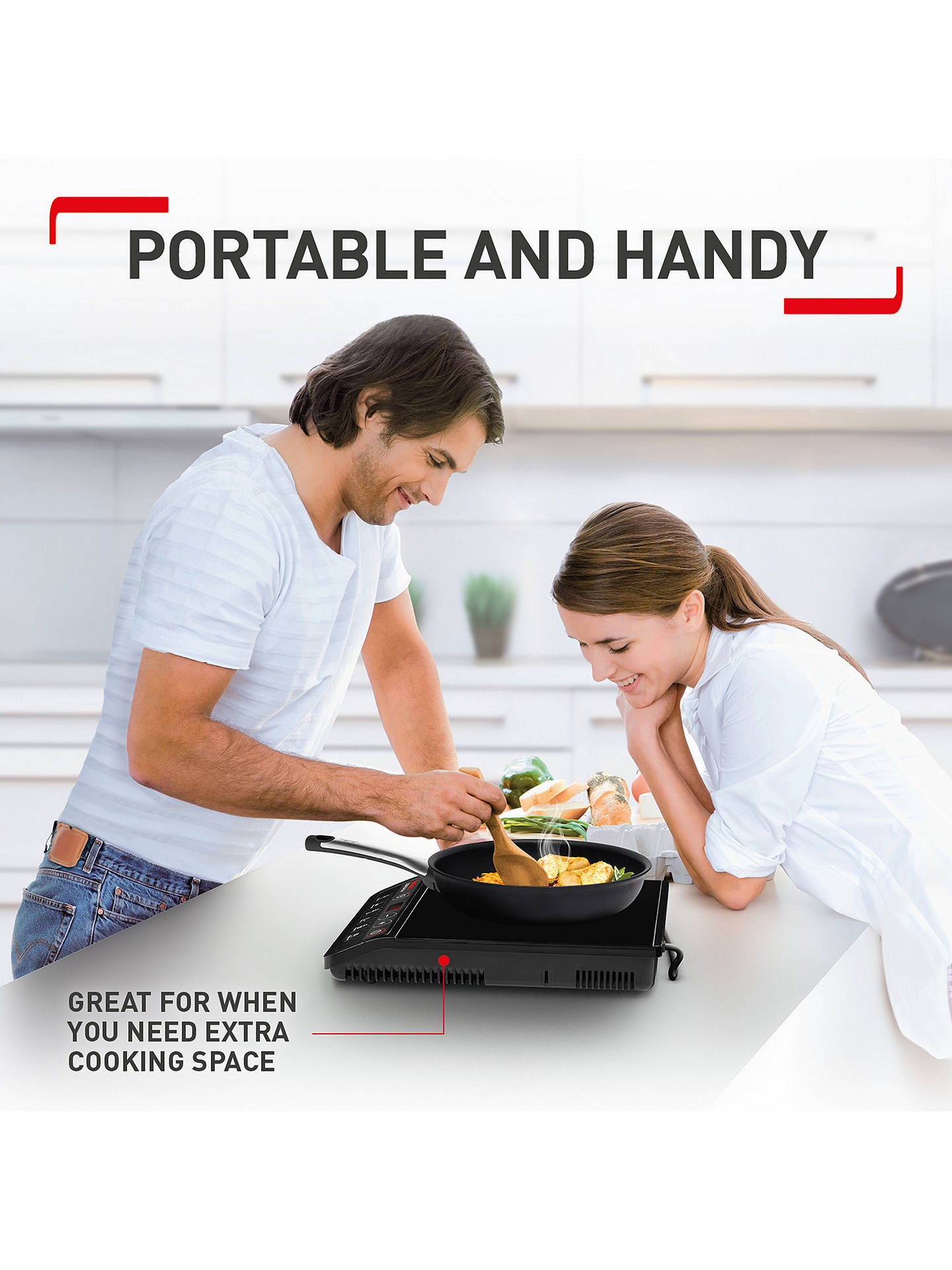 BuyTefal IH201840 Everyday Portable Induction Hob Online at johnlewis.com