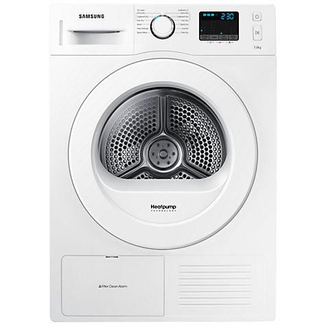 buy samsung dv70f5e0hgw heat pump condenser tumble dryer 7kg load a energy rating white. Black Bedroom Furniture Sets. Home Design Ideas