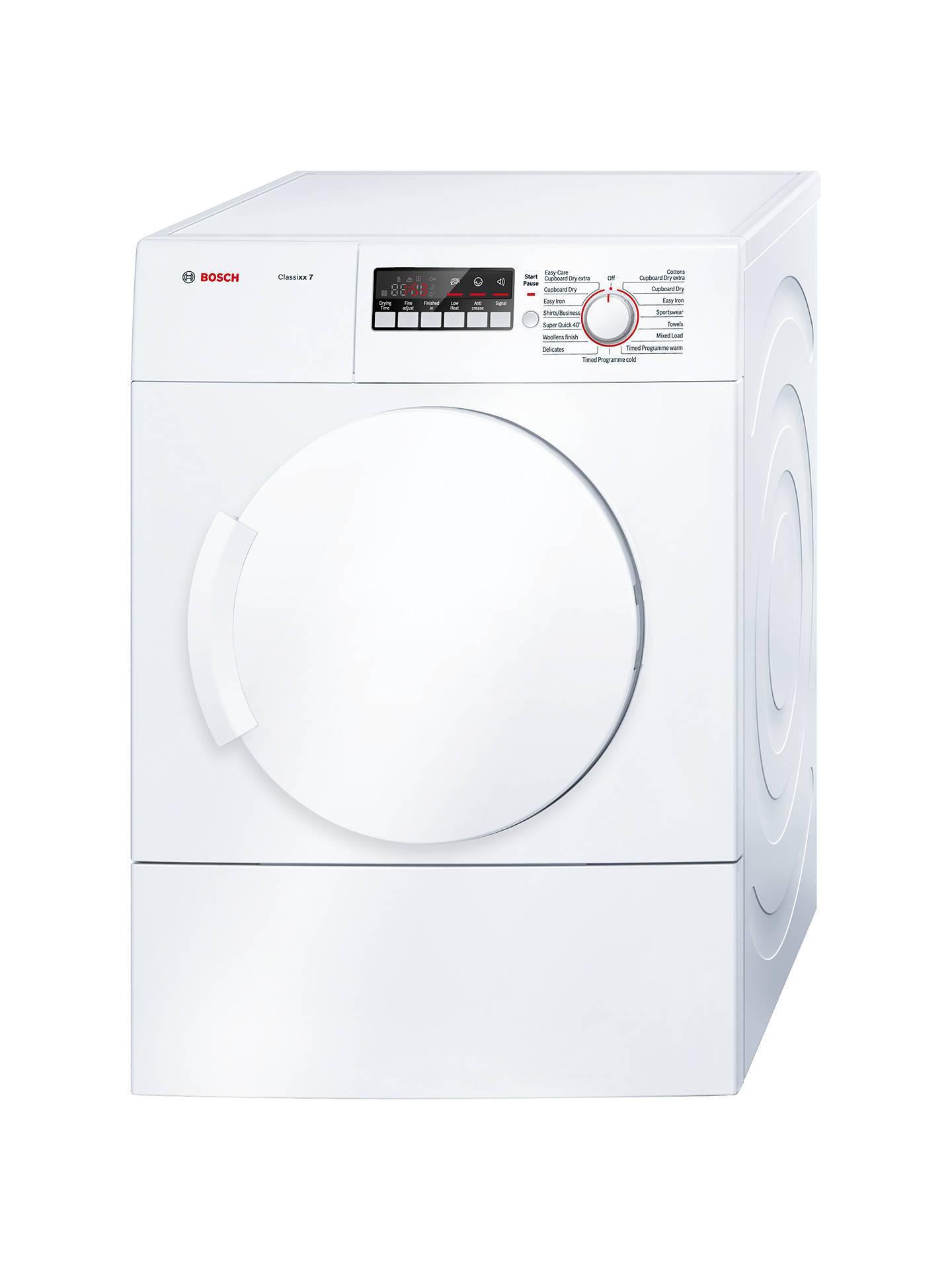 BuyBosch Classixx WTA74200GB Sensor Vented Tumble Dryer, 7kg Load, C Energy  Rating, White ...