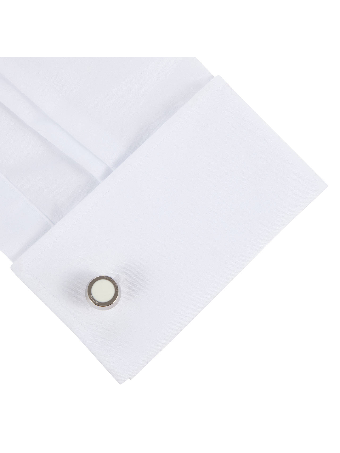 BuyBOSS Simony Rounded Cufflinks, White Online at johnlewis.com