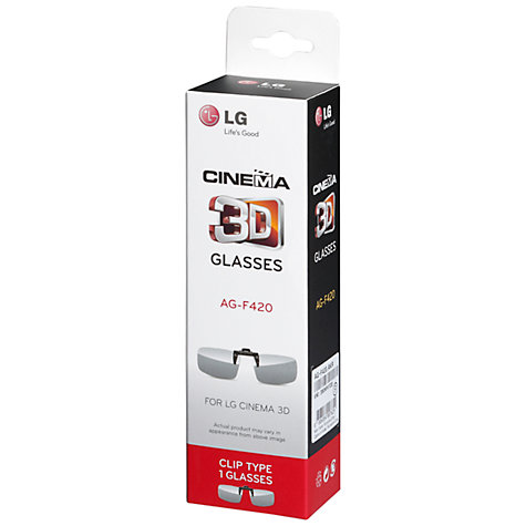 Buy LG AG-F420 Clip On Passive 3D Glasses Online at johnlewis.com
