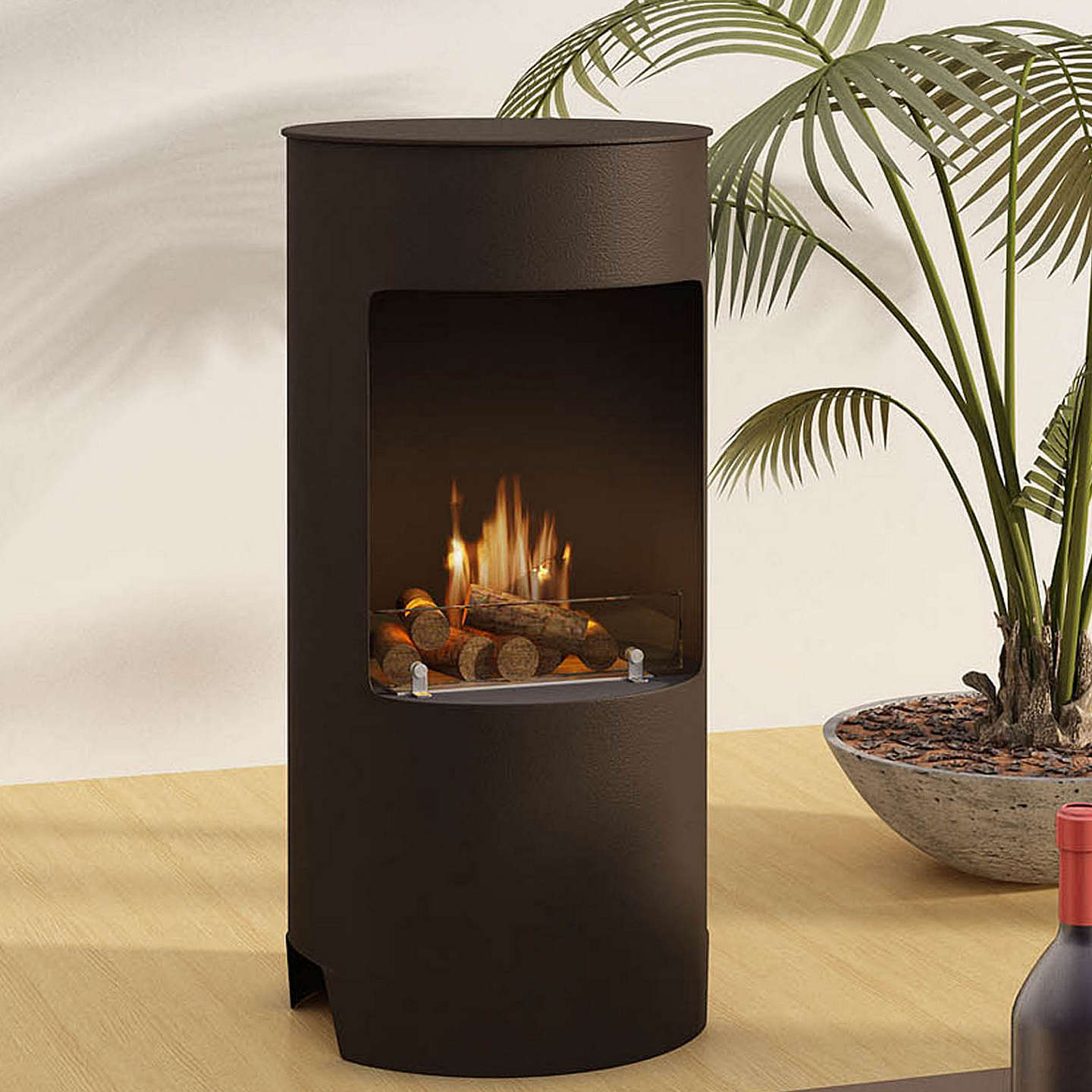 BuyImagin Stow Bioethanol Fireplace, Black Online at johnlewis.com