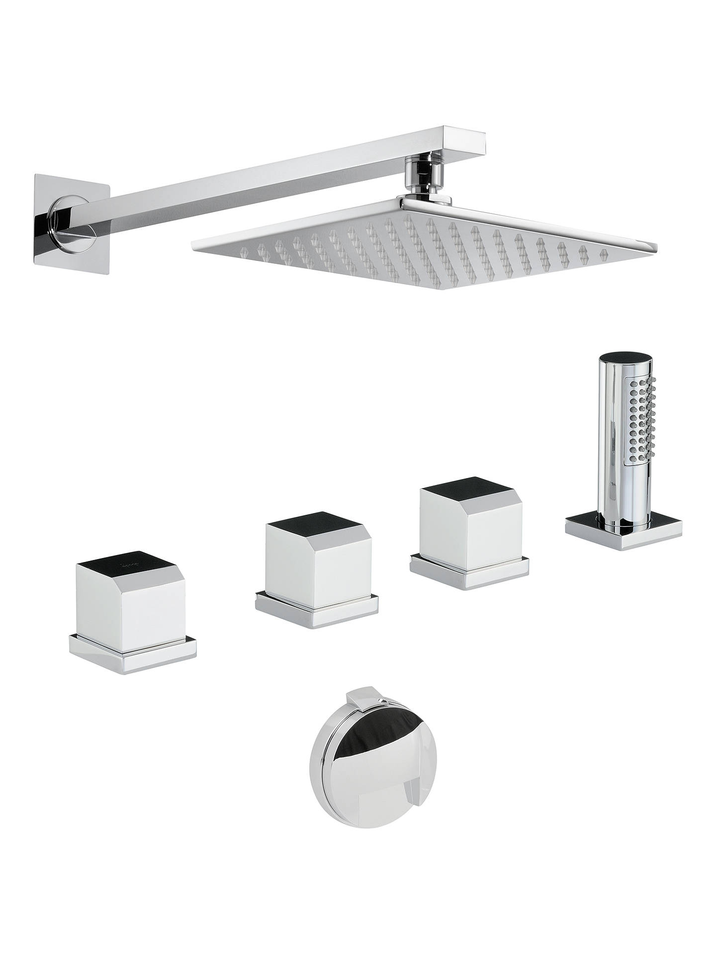 Abode Extase Thermostatic Deck Mounted Bathroom Overflow Filler Tap