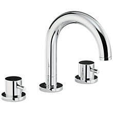 Buy Abode Harmonie Thermostatic Deck Mounted 3 Hole Bath Mixer Tap Online at johnlewis.com