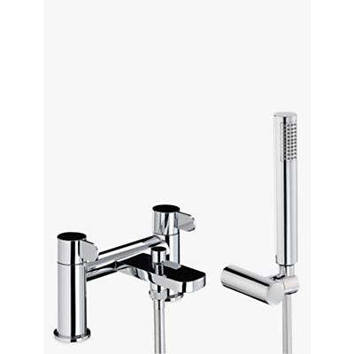 Image of Abode Bliss Deck Mounted Bath/Shower Mixer Bathroom Tap with Handset