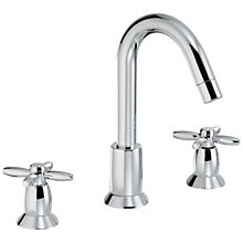 Buy Abode Opulence Deck Mounted 3TH Basin Mixer Tap Online at johnlewis.com